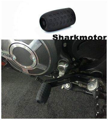 Black Rubber Shift Sock Boot Shoe Protector Shifter Cover For Buell Bike 1pc