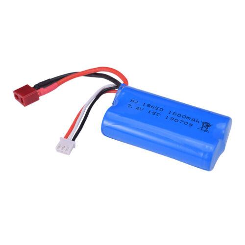 2X 7.4V 1500Mah Li-Ionbatterie T Stecker für WLtoys 12428 2.4G RC Auto Car