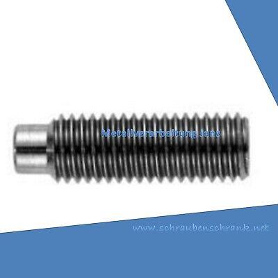 Gewindestifte Innensechskant Zapfen DIN 915 M3x10 EDELSTAHL 10 St