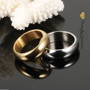 18K-Calidad-Chapado-en-Oro-Anillos-de-compromiso-boda-Acero-Inoxidable-Tamanos-5-13
