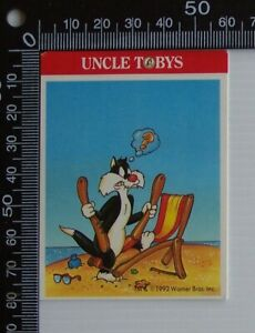 VINTAGE-UNCLE-TOBYS-AUSTRALIA-WARNER-BORS-LOONEY-TUNES-ADVERTISING-PROMO-STICKER
