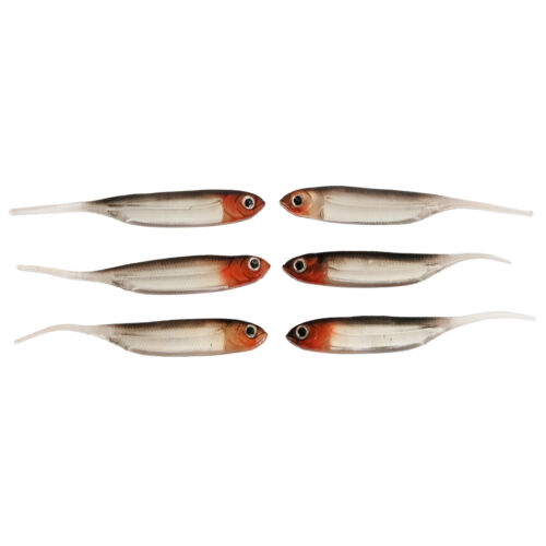 6pcs SF Soft Needle tail Lures Fishing Trout Shad Baits  Aluminum Embedded