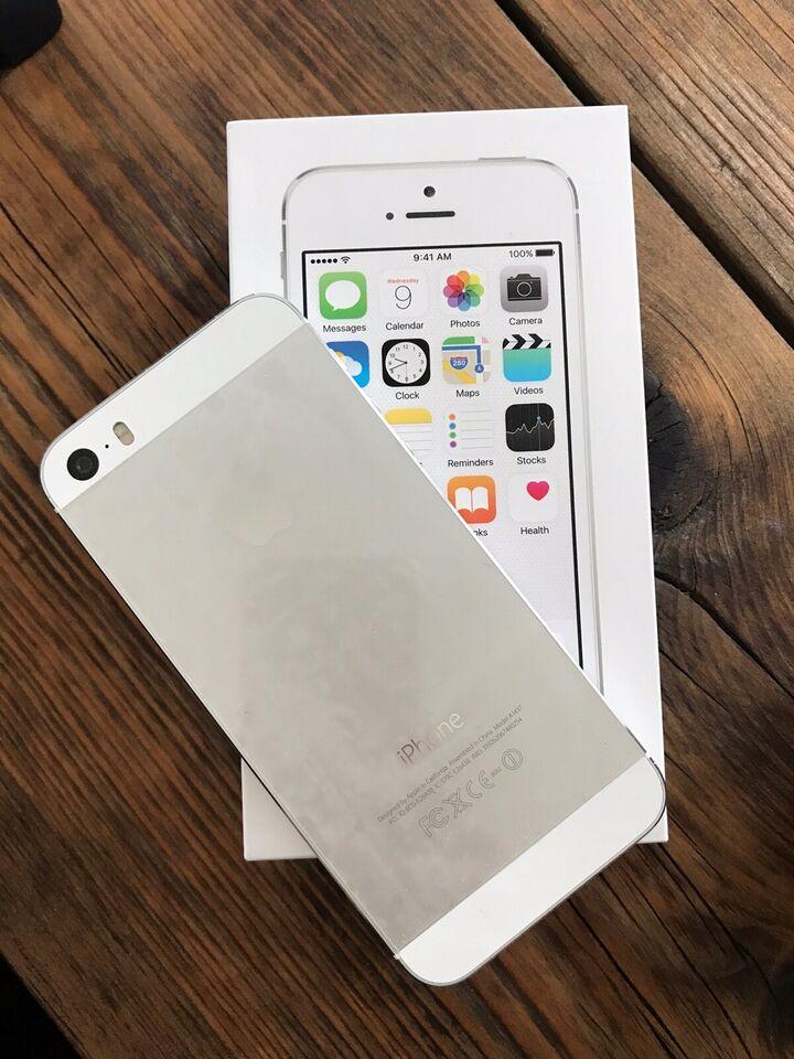 iPhone 5S, 16 GB, hvid
