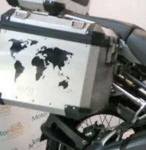 World map alloy pannier stickers decals graphics adventure ktm gsa image is loading world map alloy pannier stickers decals graphics adventure gumiabroncs Gallery