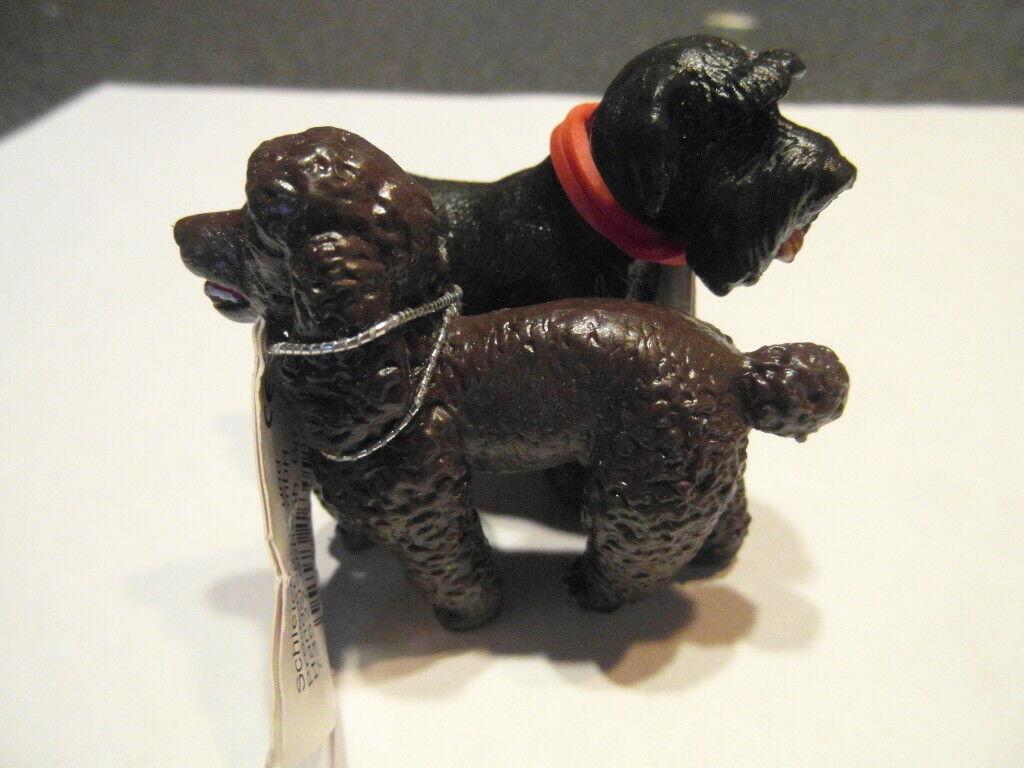 SCHLEICH Barboncino cane cane cane 16305-1 ma in Marroneeee con libro d23814