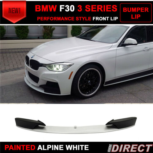 PP For 12-18 BMW F30 M Tech M Sport Front Bumper Lip Painted Alpine White III