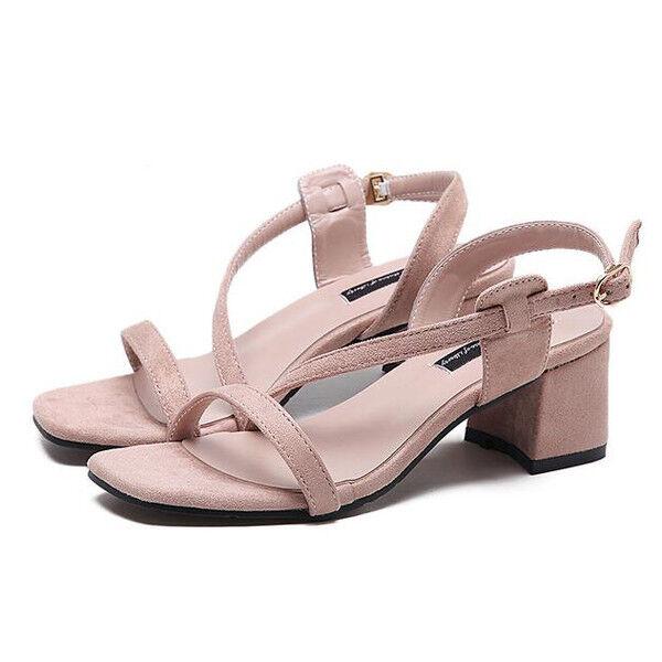Sabot ciabatte 6 cm eleganti  beige  tacco quadrato sandali simil pelle 9962