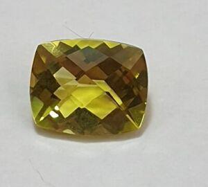 3-84-Carat-Limonenquarz-AAA-Lemon-quarz-Checker-Cut-11-x-9-mm-Top-Qualitaet