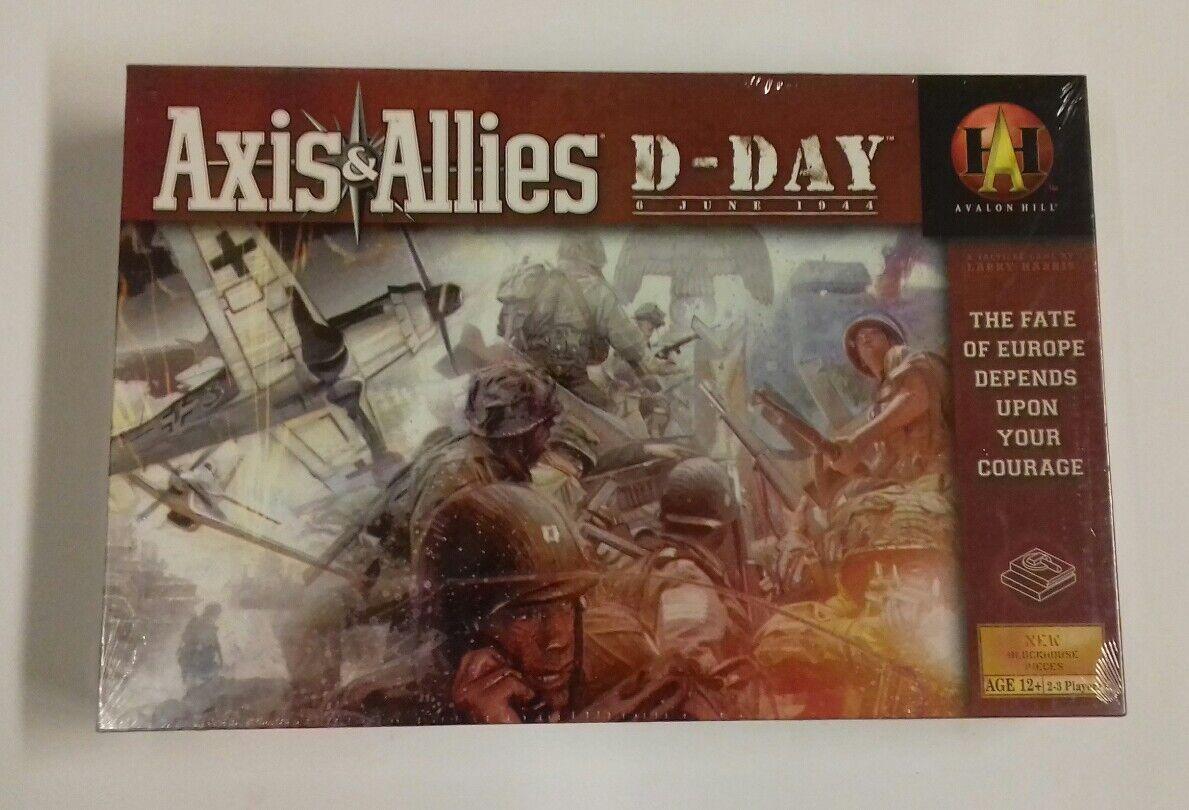 AXIS & ALLIES D-DAY  JUEGO DE MESA HASBRO , RETRACTILADO Y NUEVO
