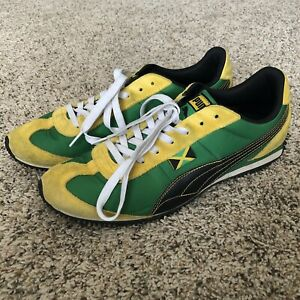 4695e724 Men Puma Jamaica green yellow canvas athletic trainers sneakers ...