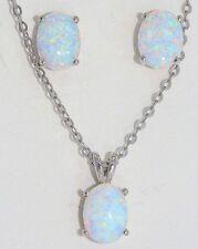 8x6mm Opal Oval Pendant .925 Sterling Silver