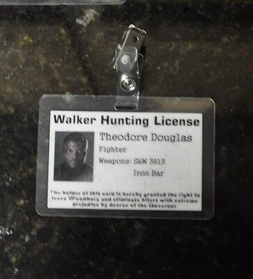 The Walking Dead ID Badge-Walker Hunting License Theodore Douglas