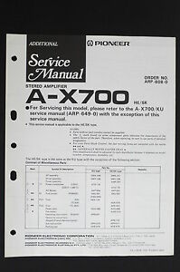 Pioneer-A-X700-Original-Stereo-Amplifier-Additional-Service-Manual-Diagram-O115