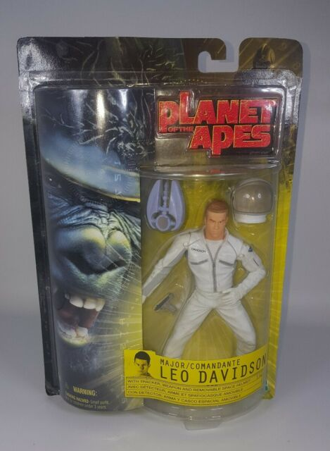 2001 Hasbro Planet of the Apes Major Comandante Leo Davidson Action Figure