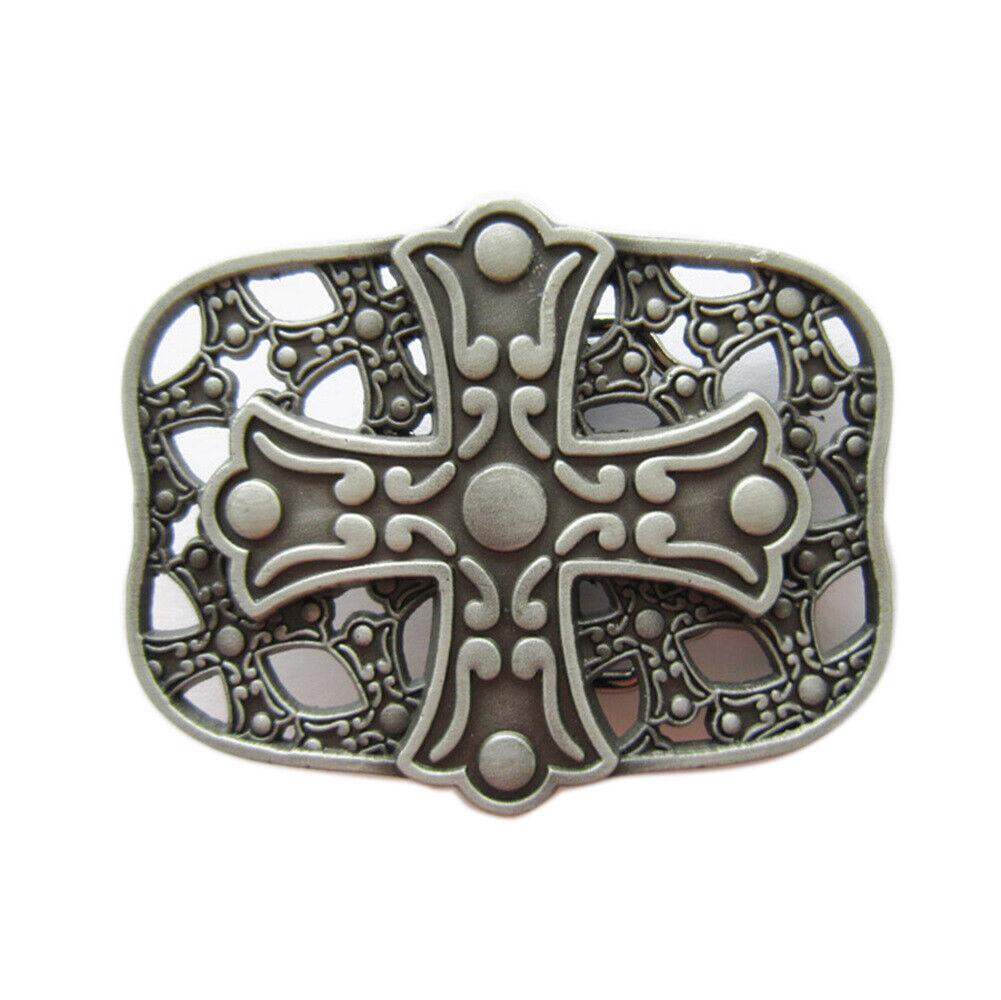 Celtic Cross IX Metal Belt Buckle Celts Vikings Viking Knot Triskele