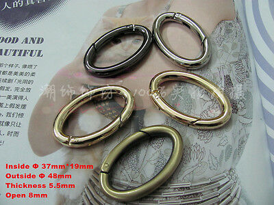 Snap Clip Trigger Spring Gate Oval Ring Keyring Buckle Bag Accessories Rings New