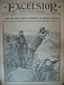 WW1-N-1627-OBSERVATEUR-DE1ere-LIGNE-Gal-JOFFRE-ALSACE-JOURNAL-EXCELSIOR-1915