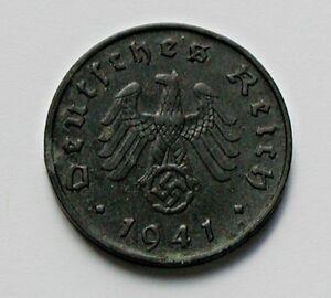 Details about 1941 A NAZI GERMANY WWII Coin - 10 Reichspfennig - dark tone  & stains