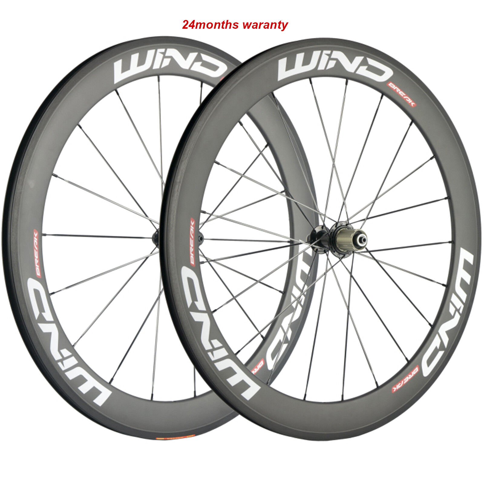 60mm Carbon Wheels 700C Bicycle Cycle Wheelset 23mm 25mm fit Shimano Campagnolo