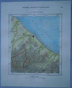 1875 Perron Map Rimini Italy Republic Of San Marino 91 Ebay