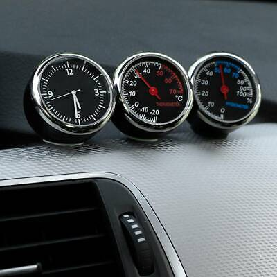 Car Thermometer Hygrometer Quartz Clock For Dashboard Ornament Kit Set NEW