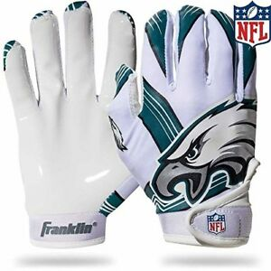 new arrivals 564c1 0893a Details about Philadelphia Eagles Youth Football Receiver Gloves NFL Kids  (Pair) Great Gift