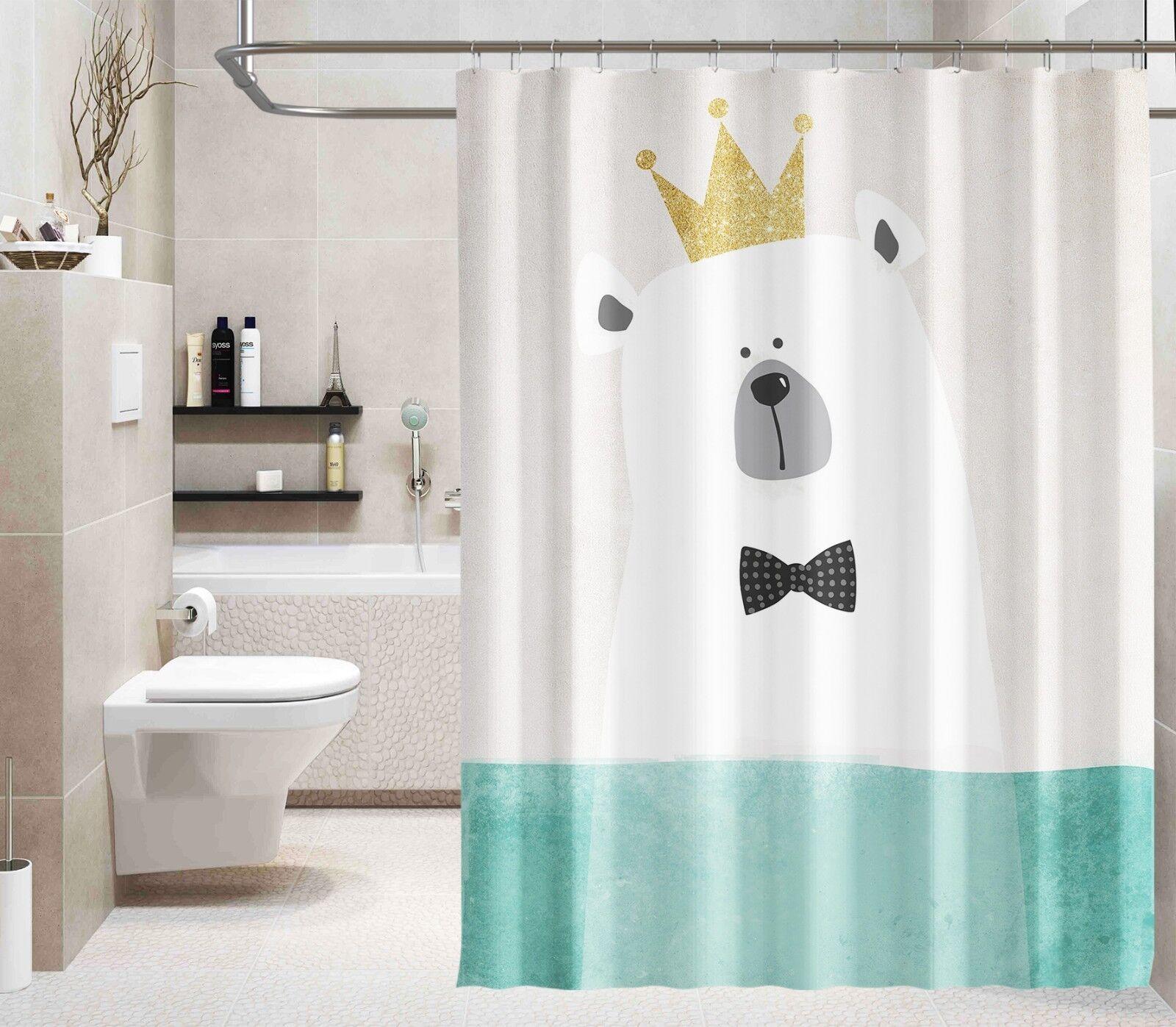3D Karikatur Bär 0 Duschvorhang Wasserdicht Faser Bad Daheim Windows Toilette DE   Marke