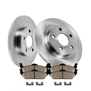 Rear Brake Disc Rotors Ceramic Pads For 2009 2010 2011 2012 2013 Toyota Venza