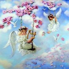 "Sandra Kuck "" Angels of Joy "" Children Angel Art Print  Image Size 12"" x 12"""