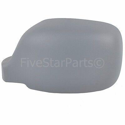 Left Passenger side primed wing mirror cover for Renault Kangoo 02-08 cap casing