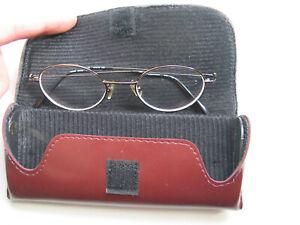 Calvin-Klein-Glasses-Case-Sze-47-19-140-Coppery-Metal-Frame-Flawless-Oval-Lenses
