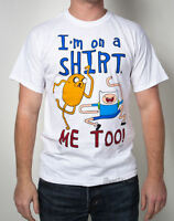 Adventure Time With Finn And Jake White I'm On A Shirt Me Too T Tee M L Xl