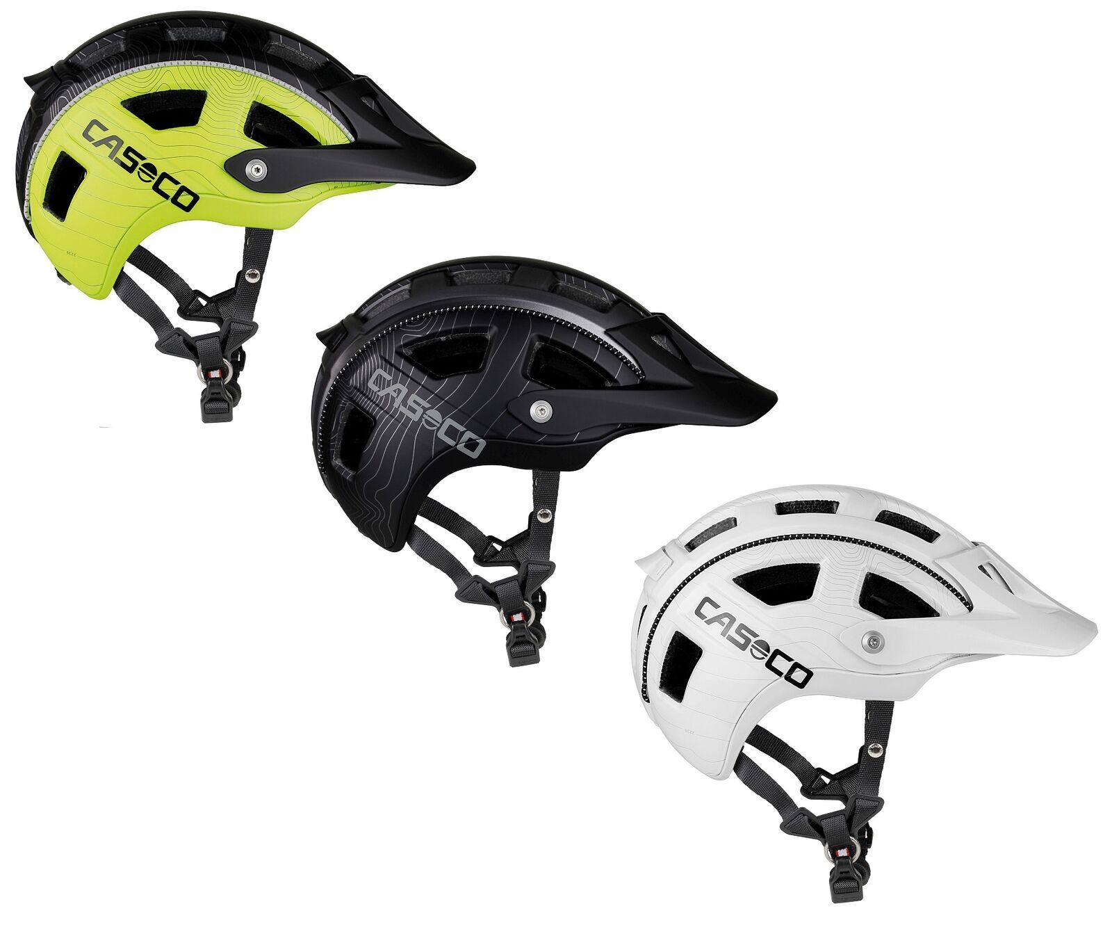 Casco MTB. e mountainbike bicicleta casco ventilado + ajustable, negro blancooo amarillo