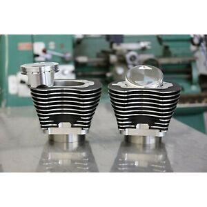 S-amp-S-Cycle-4-034-Sidewinder-100-034-Big-Bore-Kit-039-99-039-06-HDA-Big-Twin-Cam-Wrinkle-Blac