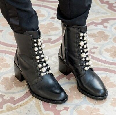 ZARA Black High Heel Leather Ankle