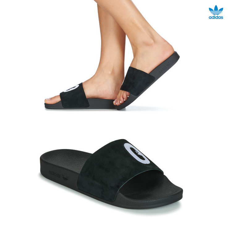 Hausschuhe Frau Adidas Performance Adilette W Schuhe Sandalen Schwarz Sommer