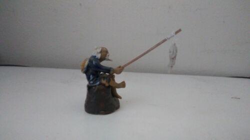 F 4 Miniature mudman figurine Mudmans Fisherman for bonsai