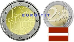 2 €    LETTONIE    2021       1 X  PIECE     INTERNATIONALE    NOUVEAU      2021