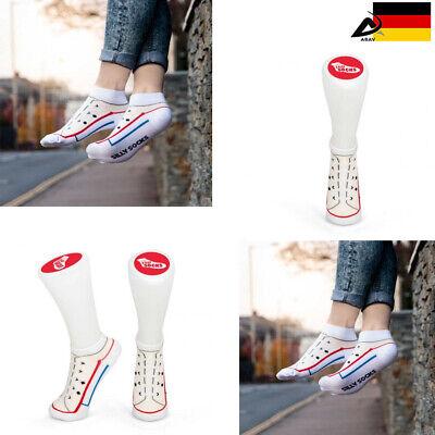 Calzini Silly Socks Divertenti Scherzo Articolo Breve Sneaker Chucks-mostra Il Titolo Originale