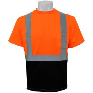 GLO-005B-XL Class 2 Shirt Hi Visibility Orange Self Wicking Shirt Size:XL