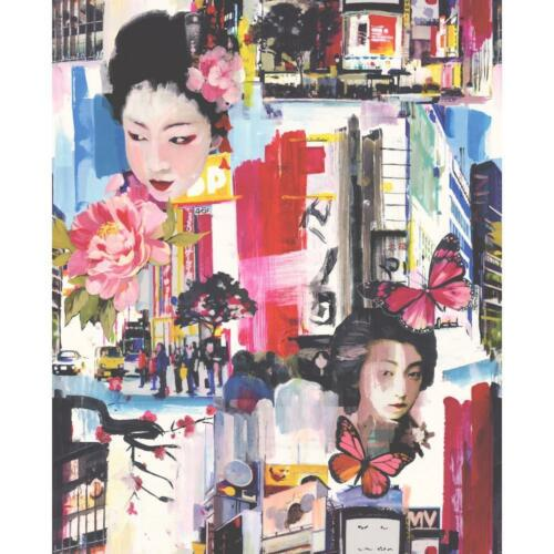 NEW HOLDEN DECOR TOKYO PAINTING GEISHA FLORAL BUTTERFLY PATTERN WALLPAPER 97910