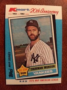 Details About 1982 Topps Kmart 20th Anniversary Baseball Card 29 Thurman Munson