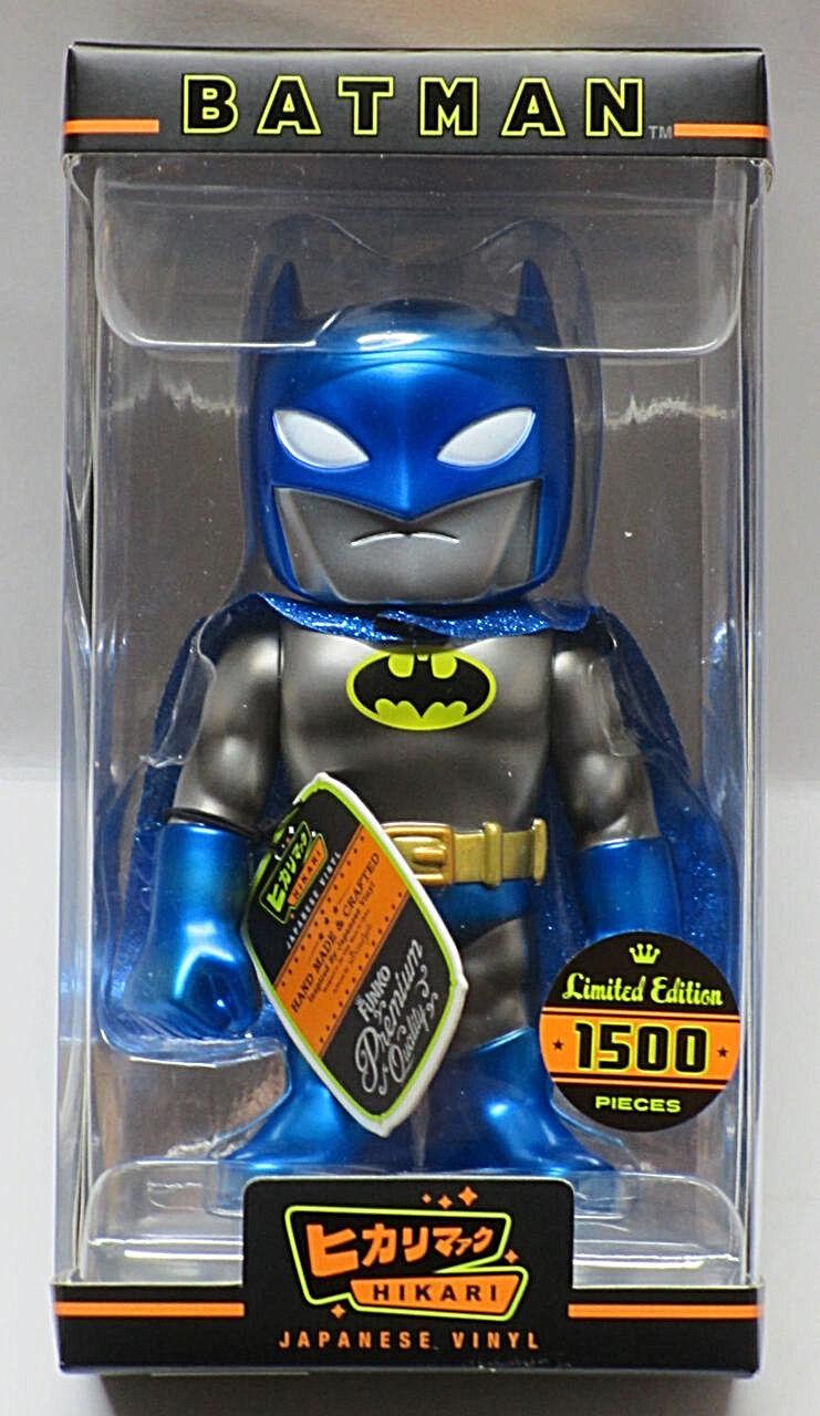 Funko hikari sofubi_metallic blaue batman 6 inch japanische vinyl_1 von 1500_mib_new