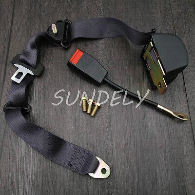 Adjustable Retractable Car Seat Belt Lap Belt 3Point Safety Universal Auto