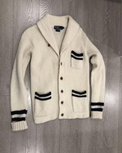 Vintage Polo Ralph Lauren 1980s Cardigan Varsity … - image 1