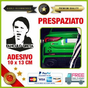 Adesivo-GRETA-THUNBERG-Vinile-Prespaziato-Per-Auto-Moto-Casco-TUNING-sticker