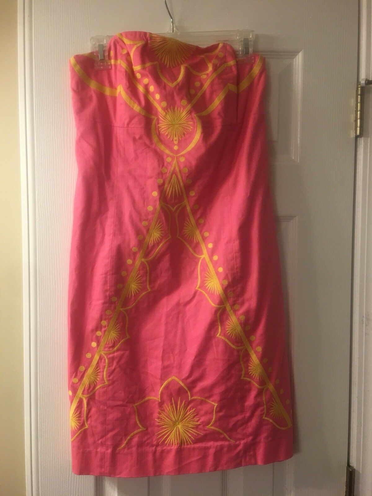 Lilly Pulitzer Strapless Dress Größe 10 Medium Large