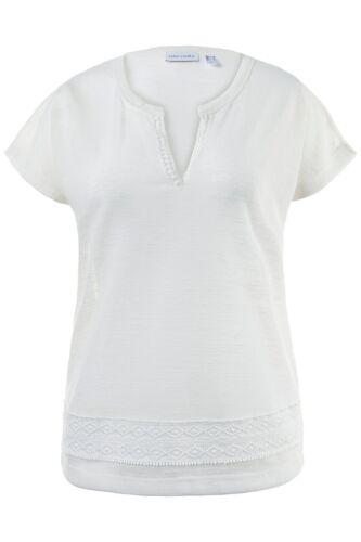 Gina Laura oversized Shirt mit Details beige NEU