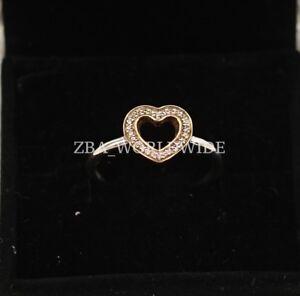 New-Authentic-Pandora-14K-amp-SS-Symbol-Of-Love-Heart-Ring-190925CZ-Sz-5-5-9-9-5