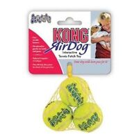 Kong Air Dog Squeaky Tennis Ball Squeakair Extra Small Pack 3